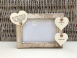 Shabby personalised Chic Photo Frame In Memory Of Grandad ~ Grandfather Any Name - 232993319161